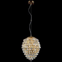 CHARME SP2+2LED GOLD/TRANSPARENT CRYSTAL LUX Светильник подвесной
