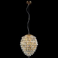 CHARME SP3+3LED GOLD/TRANSPARENT (CRYSTAL LUX) Светильник подвесной