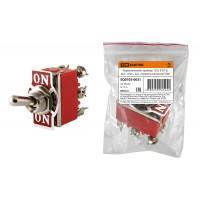 Переключатель-тумблер 1322 (П2Т-2) вкл-откл-вкл 2 гр.контактов TDM