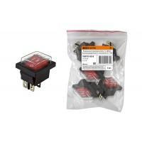 Переключатель клавишный YL-208-01 черн.корпус красн.клавиша 2 полож.2з IP54 TDM