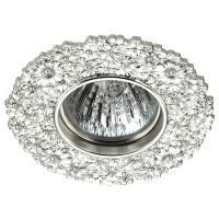 370332 NT17 113 серебро Встраиваемый декоративный светильник GX5.3 50W 12V CANDI
