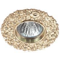 370334 NT17 113 золото Встраиваемый декоративный светильник GX5.3 50W 12V CANDI