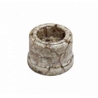 Розетка с З.К.,керамика,цвет мрамор В1-101-09(Бирони)
