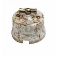 Выключатель 2кл.,фарфор,цвет мрамор В1-202-09 (Бирони)
