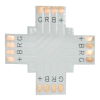 Коннектор LED strip гибкая соед.плата X 4-х конт. 10мм RGB (SC41FXESB)