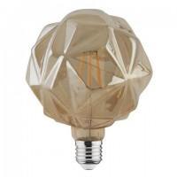Лампа светодиод. филамент.LED 6W 220V E27 2200К Кристалл d125*160, лампочка