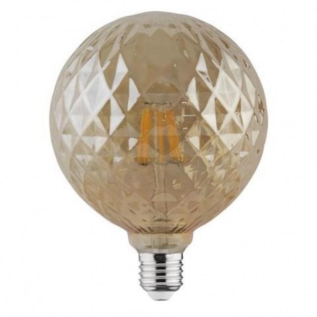 Лампа светодиод. филамент.LED 6W 220V E27 2200К Твист d125*160, лампочка