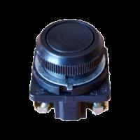 Кнопка КЕ-011 чёрная с толкателем 1з+1р 10А d30мм(Uперемен.до 660В,Uпостоян.до 440В)