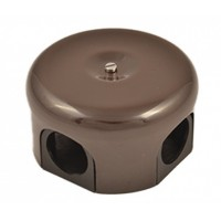Распределительная коробка 110мм, пластик, цвет коричневый B1-522-22 (Бирони)