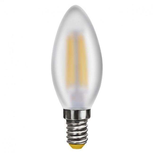 Лампа светодиод.candle LED 4W 220V E14 4000К свеча матовая филамент, лампочка