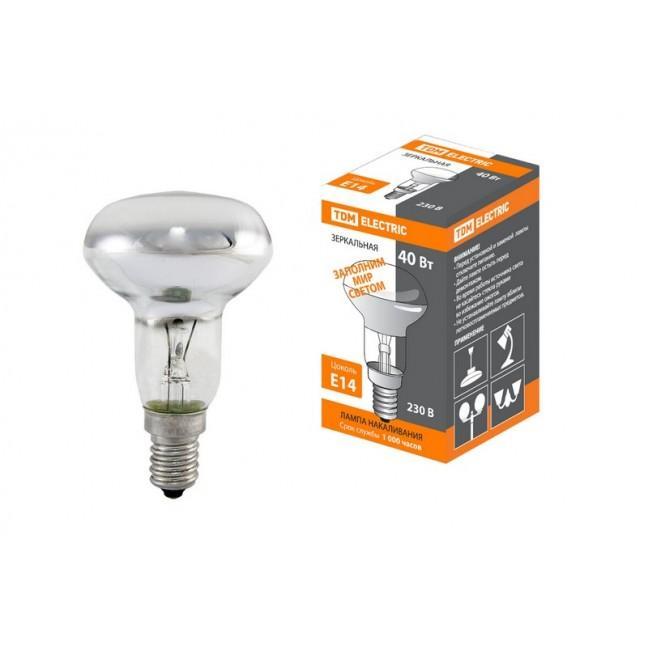 Эл.лампа R50-40 Вт-230 В-Е14 зеркальная TDM, лампочка
