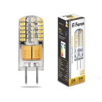 Лампа светодиод. LED 3W G4 12v 2700K (11*38) LB-422, лампочка