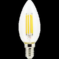 Лампа светодиод.candle LED 5,0W 220V E14 2700К 360гр филамент прозр свеча 96*37(N4QW50ELC), лампочка