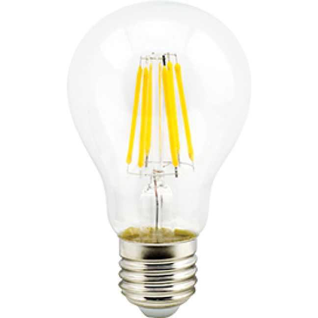 Лампа светодиод.classic А60 LED 10W 220V E27 2700К 360гр филамент прозр 105*60(N7LW10ELC) Premium, лампочка