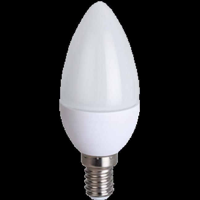Лампа светодиод.candle LED 8,0W 220V E14 4000К 100*37 свеча(C4LV80ELC), лампочка