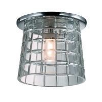 369460 NT09 504 хром/прозрачный Встраиваемый светильник G9 40W 220V FACET