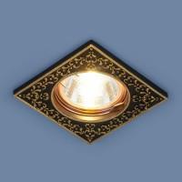 120071 (BK/GD) черный/золото MR16 Точечный светильник