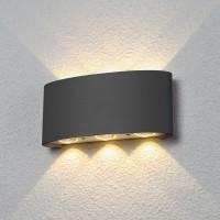1551 TECHNO LED 6W 3000K светильник садово-парковый IP54 серый