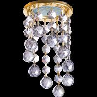 Светильник MR16 CR1007 Экола Glass круг хрусталь на подвесе тонир/золото 84*170 (FY16RVECB)