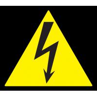 Знак: Осторожно электрическое напряжение 100*100*100 ИЭК