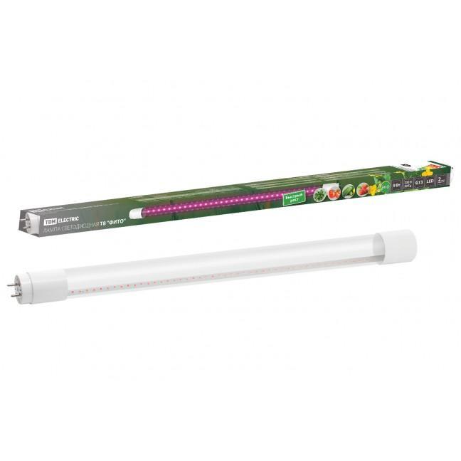 Лампа-Фито LED T8-600 9w G13 для растений 230В ТДМ, лампочка