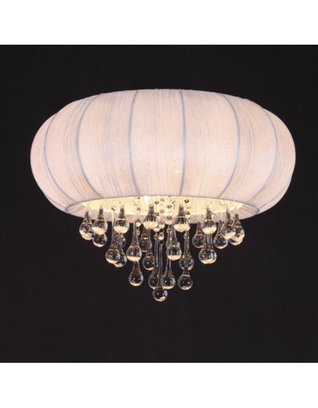 SL350.052.05 Люстра потолочная хром/белый,бесцветный  Е14 5*40W ST-Luce