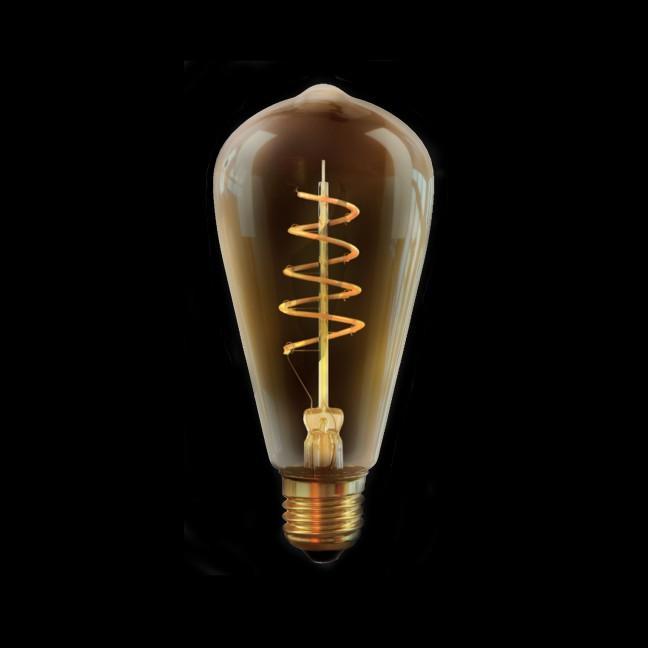 Лампа светодиод.DIM Колба ST64 4W 230V E27 2000К Gold, лампочка