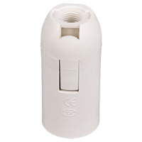 Патрон Е14 гладкий белый(комплект) Экола (AB4SSWEAY)