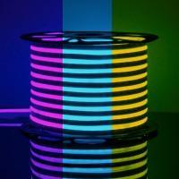 LS001 220V RGB Лента светодиодная Гибкий неон 12W 80Led 5050 IP67 односторонний