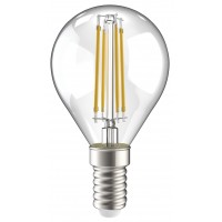 Лампа светодиод.globe G45 LED 7W 230V E14 4000К филамент шар прозр. 360гр IEK, лампочка
