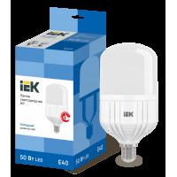 Лампа светодиод.HP LED 50W 230V E40 6500К IEK, лампочка
