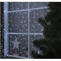 Гирлянда LED Занавес 2*3м, белый мерцание, 3W LED-760/180-220V уличная (3584243)