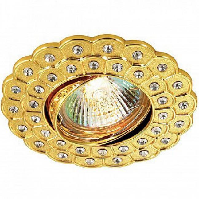 369823 NT12 194 золото Встраиваемый ПВ светильник IP20 GX5.3 50W 12V FLOWER