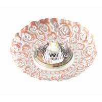370313 NT17 197 белый/розовый Встраиваемый стандартный светильник GX5.3 50W 12V FIORI