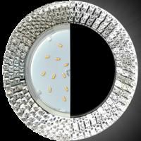 Светильник GX 53H4 LD5319 Экола Glass круг с прозр.мозаик с подсветкой, хром 40*123(SC53RMECB