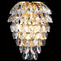 CHARME AP2+2 LED GOLD/TRANSPARENT (CRYSTAL LUX) Бра