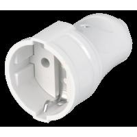 РПп10-01-Ст Розетка кабельная с з/к 16А белая ИЭК