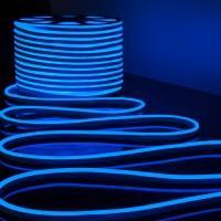LS001 220V Лента светодиодная Гибкий неон 9,6W 120Led 2835 IP67 односторонний синий, 50м