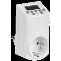 Таймер розеточный электронный РТЭ-1-1мин/7дн-140on/off-16А IP20 ИЭК