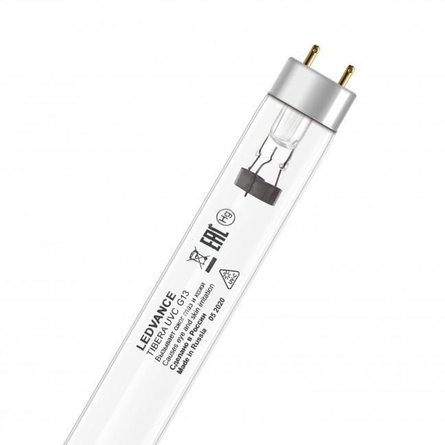 Эл.лампа LEDVANCE TIBERA 15W G13 бактериц.(UVC 253,7nm)без озона, лампочка
