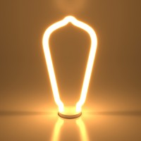Лампа светодиод.LED 4W 220V E27 2700K ST64 белый матовый Decor filament (BL158), лампочка