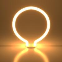 Лампа светодиод.LED 4W 220V E27 2700K round белый матовый Decor filament(BL156), лампочка