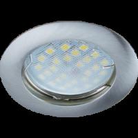 Светильник MR16 DL100 Экола GU5.3 встр. литой сатин-хром 24*75 (FN1601EFF)