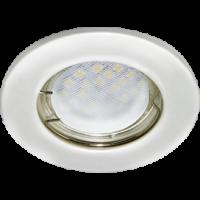 Светильник MR16 DL90 Экола встр.плоский перламутровое серебро 30*80 (FP1611EFY)