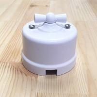Выключатель 1кл. проходной, пластик, белый Лизетта В1-201-21 (Бирони)