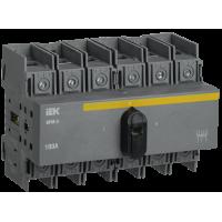 Рубильник-переключатель модульный ВРМ-3 3P 100А (1-0-1) ИЭК