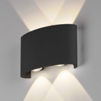 1555 TECHNO LED 4W 3000K светильник садово-парковый IP54 TWINKY DOUBLE черный