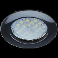 Светильник MR16 DL100 Экола GU5.3 встр. литой черный хром 24*75 (FB1601EFF)
