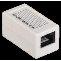 ITK Проходной адаптер кат.5Е UTP,тип RJ45-RJ45,белый