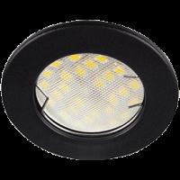Светильник MR16 DL90 Экола встр.плоский черный матовый  30*80 (FU1611EFY)